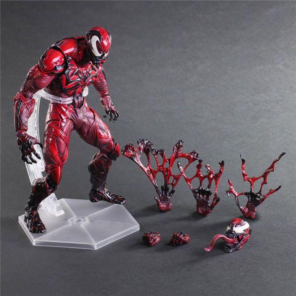 Marvel Universe Play Arts Kai RED VENOM Variant Square Enix Action Figure Statue