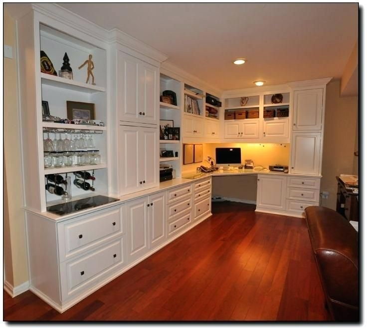 51 Inspiring Home Office Cabinet Design Ideas Home Office Cabinets Office Cabinet Design Office Built Ins