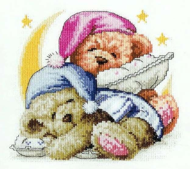 Nappy Bears cross stitch picture