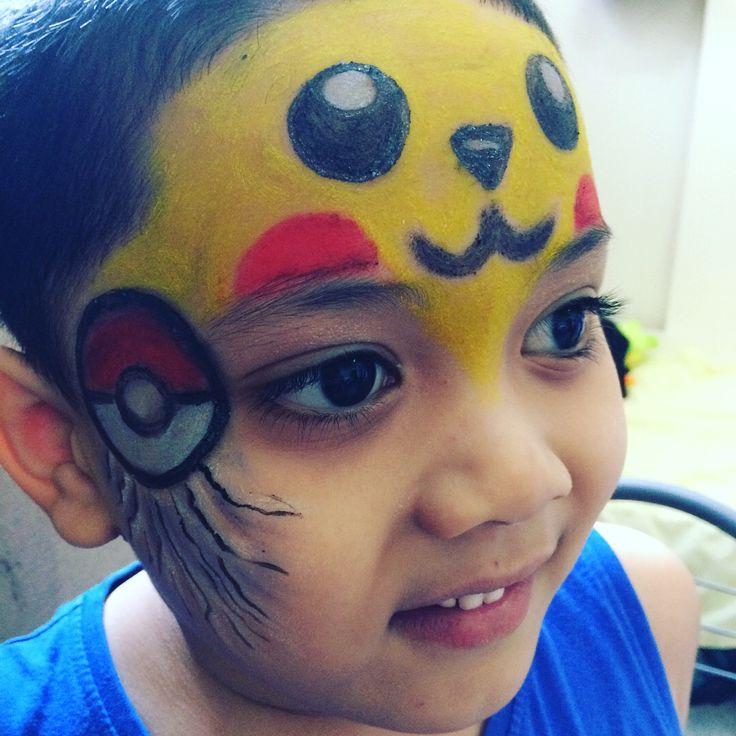 Bilal on pikachu face paint