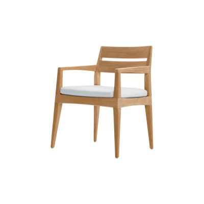 Smoothie Dining Arm Chair With Cushion From Summit Furniture.