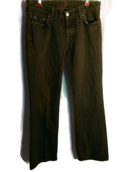 7 for All Mankind Size 28 Women's Brown 100% Cotton Low-Rise Jeans #7ForAllMankind #Flare