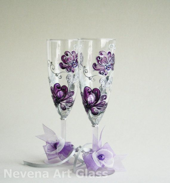 beautiful (without the bows on the bottom) but I'll probably reuse the glasses from our wedding - they have meaning and it is a vow renewal.