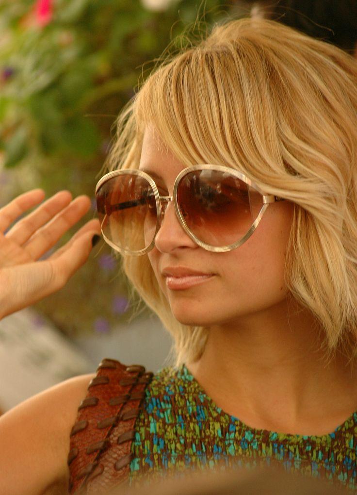 Nicole Richie wearing vintage Christian Dior sunglasses.
