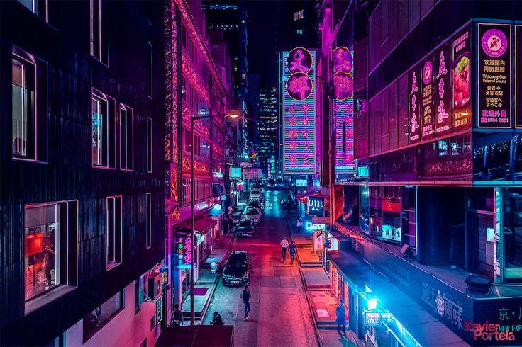 Hong Kong, sous la lumière électrique de la nuit