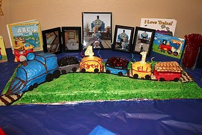 great train cake