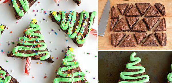Brownies Χριστουγεννιάτικα Δέντρα   Φτιάξτο μόνος σου - Κατασκευές DIY - Do it yourself