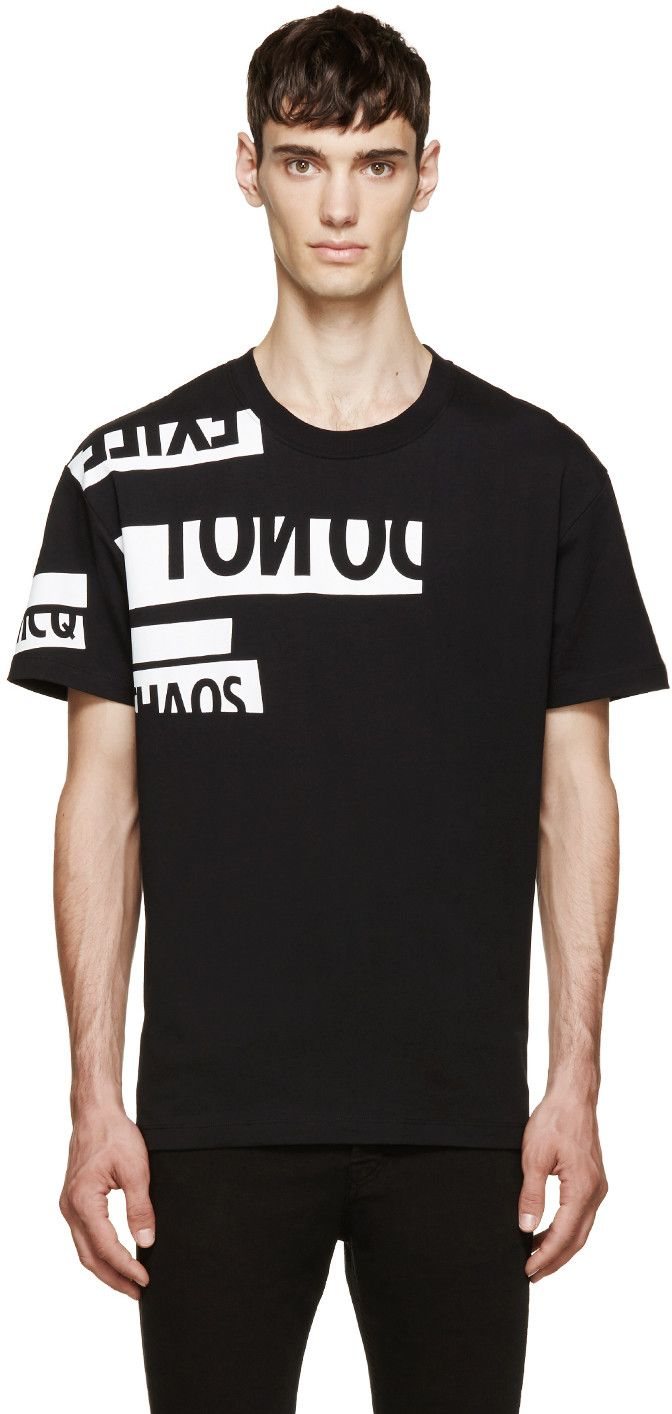 T shirt black is my happy color - Mcq Alexander Mcqueen Black White Chaos T Shirt