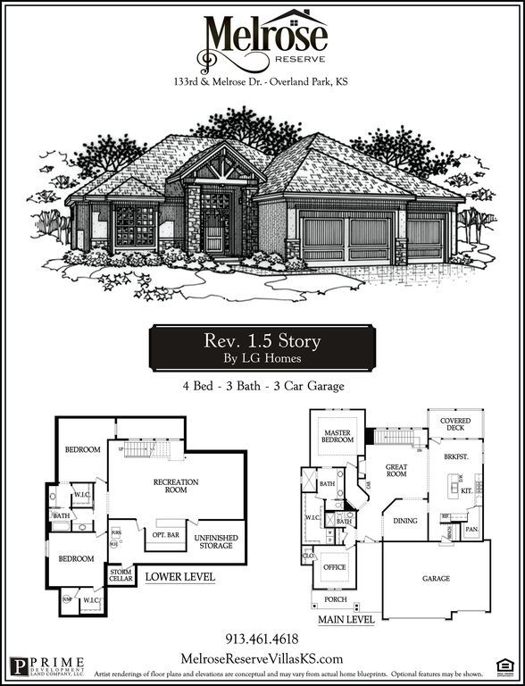 Rw Scott Reverse 1 5 Story Plan Melrose Reserve Overland Park Ks 66213 Zillow Development Land Overland Park Story Planning