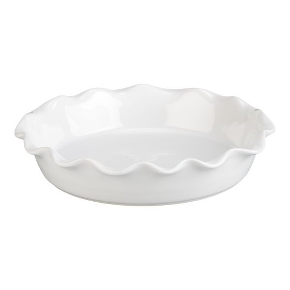 I just think this is such a pretty pie dish for all those cinamon rolls!  From Crate and Barrel Ruffle Pie Dish White 9in.