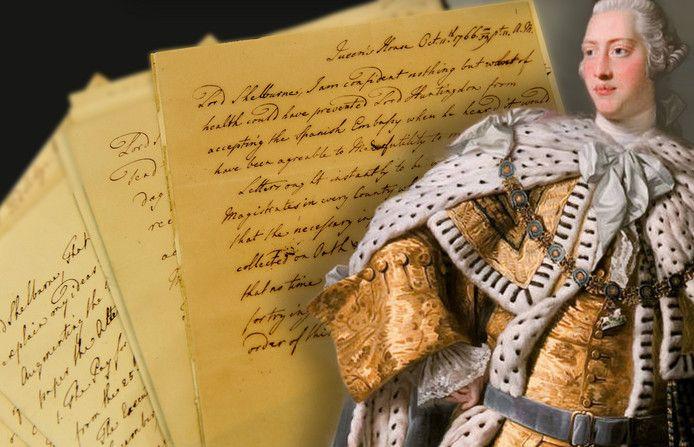Een door koning George III gesigneerde brief uit 1766. the Georgian Papers Programme (GPP).