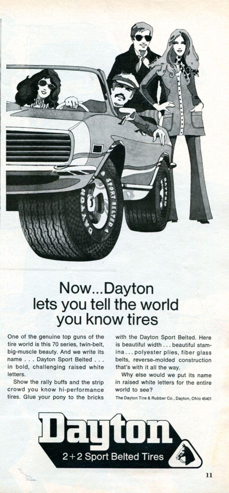Honda Dealers Dayton Ohio >> 23 best B.F. Goodrich Tires Vintage Ads images on Pinterest | Marketing, Squares and Vintage ads