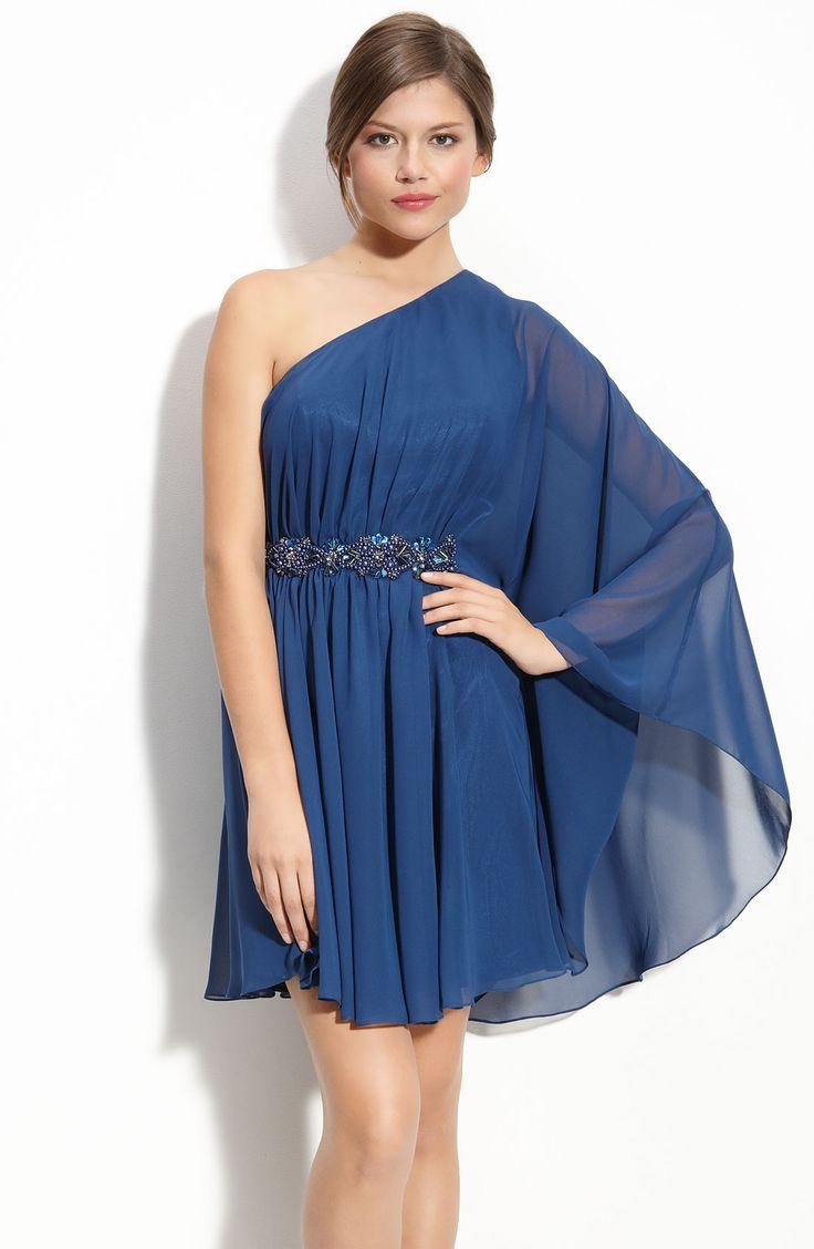 JS Boutique Beaded Jersey Dress Navy