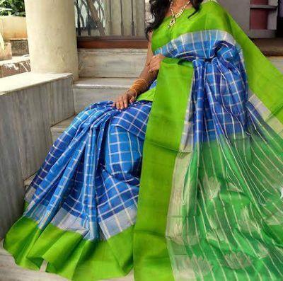 Indian Traditional Handloom Sarees: Kuppadam Silk Saree