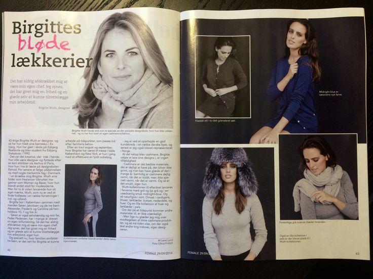 Wuth Cashmere in the magazine Female
