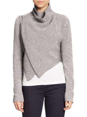 Elie Tahari - Iliana Draped Cropped Sweater