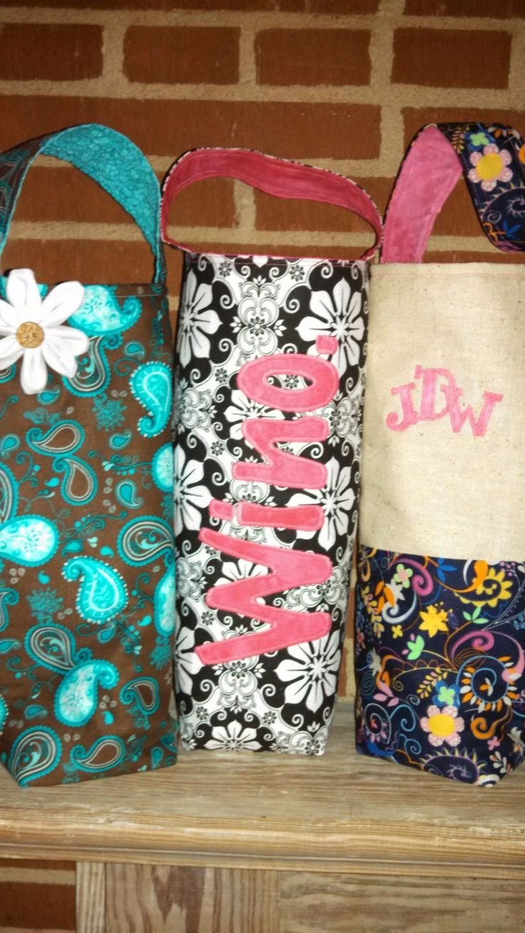 DIY Wine Tote Bag Tutorial... so easy! http://jillywillywonka.blogspot.com/2014/04/bring-your-own-wine-diy-wine-tote.html
