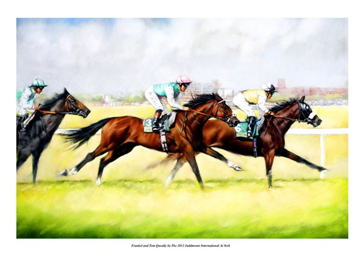 Frankel Racehorse Print - Racing in the 2012 Juddmonte at ...