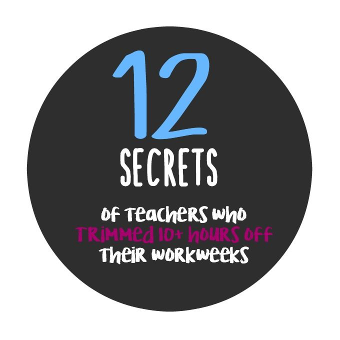 Looking to boost your productivity while working fewer hours? It is possible and these teachers did it! Here are their secrets for trimming more than 10 hours of their workweek.