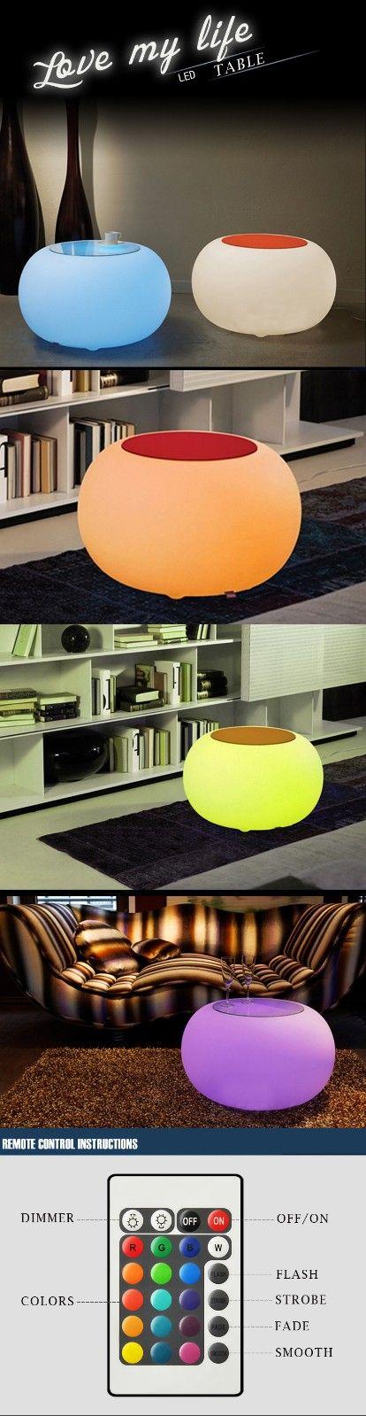 US Warehouse | Creative Remote Control LED Bar Table KTV Bar Home Garden Light Decor