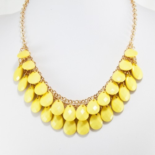 : Lemon Teardrop, Design 18, Statement Necklaces, Pretty Things, Teardrop Necklaces, Bride Style, Lemon Drop, T J Design, Covet Closet