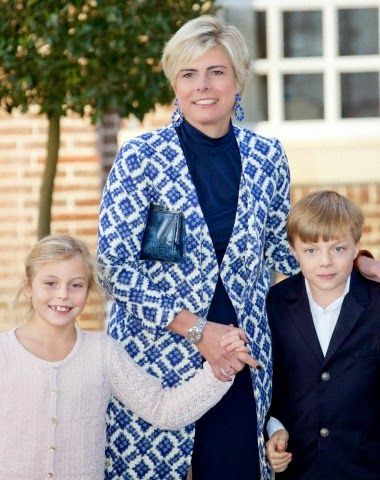 Dutch Royal Christening of Willem Jan van Vollenhoven at Palace het Loo. Dutch Princess Laurentien with Countess Leonore and Count Claus-Casimir attend the christening of Prince Floris' son at Palace het Loo in Apeldoorn, The Netherlands 9 November 2014......