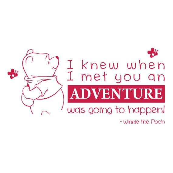 Winnie The Pooh Quote Wall Decal by stuckonuvinyldecals on Etsy, $34.99