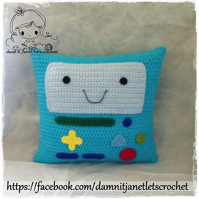 Ravelry: BMO Pillow from Adventure Time pattern by Janet Carrillo