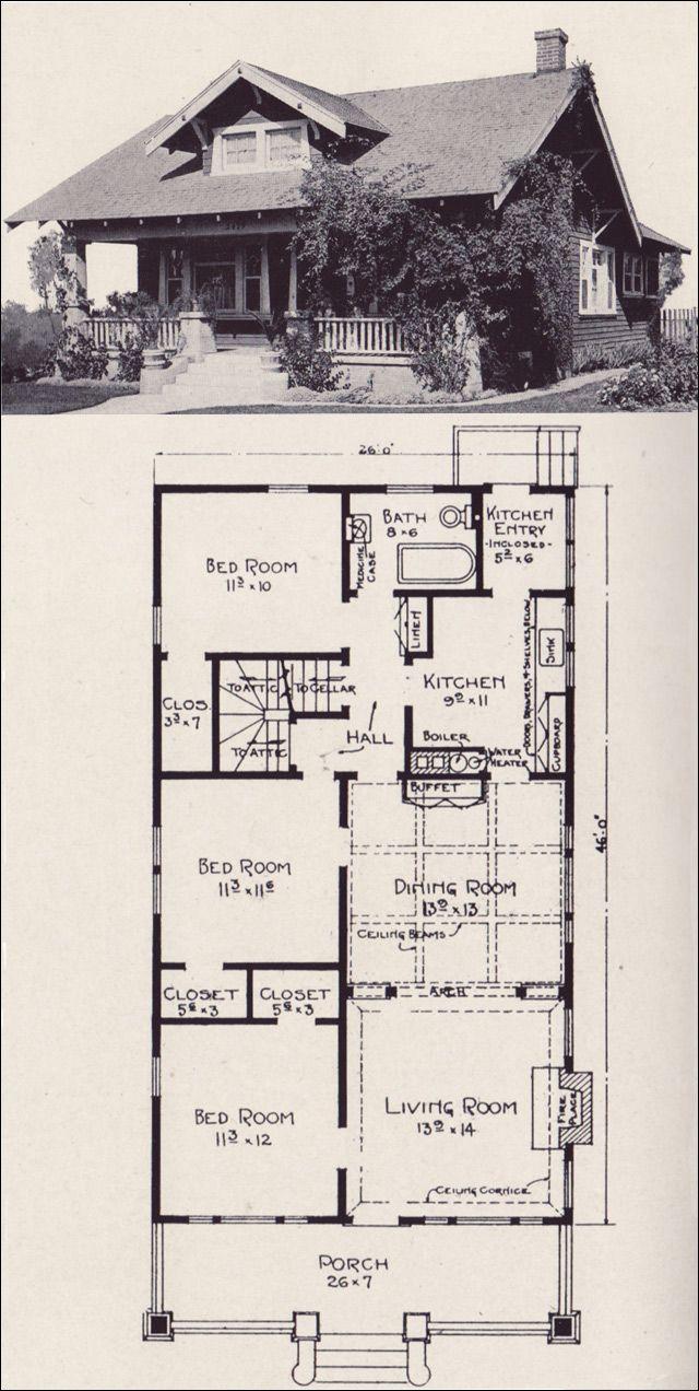Architectural Plan Views Vintage House Plans Craftsman House Plans Craftsman House