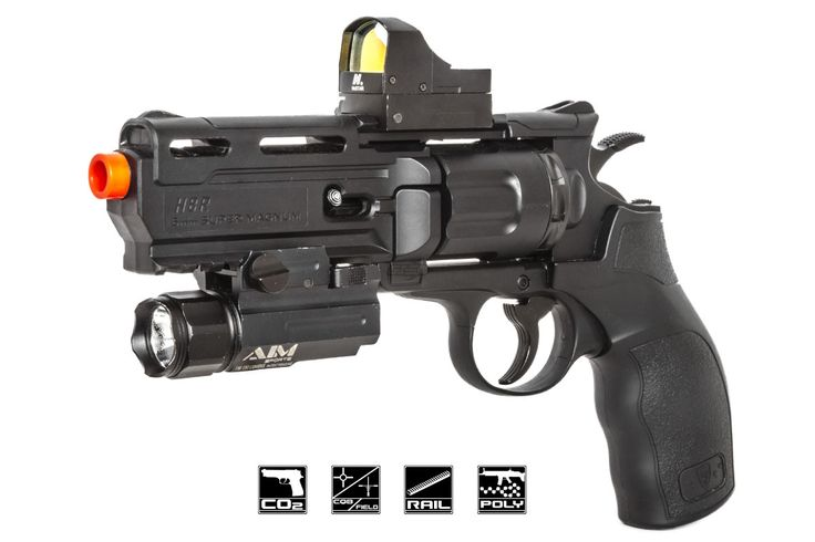 Elite Force H8R Polymer Co2 Revolver Airsoft Gun