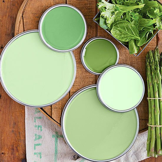 Walk the line between boring and over-the-top with hues inspired by farmers market finds: http://www.bhg.com/decorating/color/green-paint-colors/?socsrc=bhgpin031214marketgreen&page=5