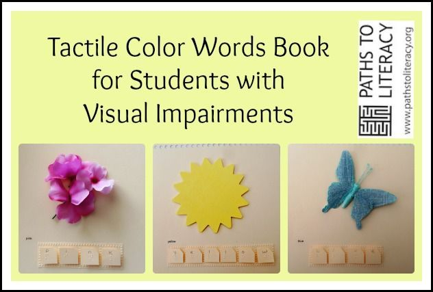 Classroom Design Tips For Visually Impaired ~ This tactile color words book helps students who are