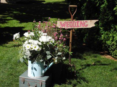Like the sign and the watering can