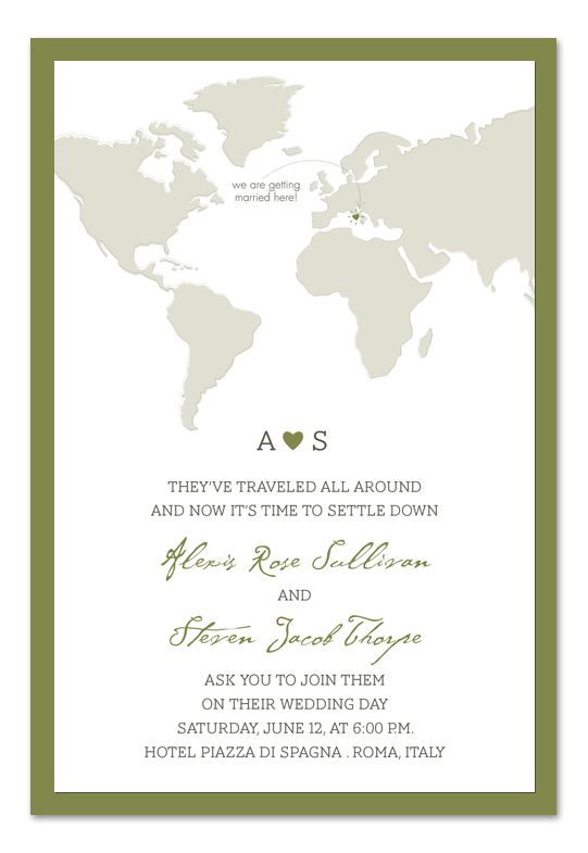 17 best images about travel themed wedding ideas on for Electronic destination wedding invitations