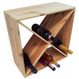 Cantinetta porta bottiglie vino in legno triangoli