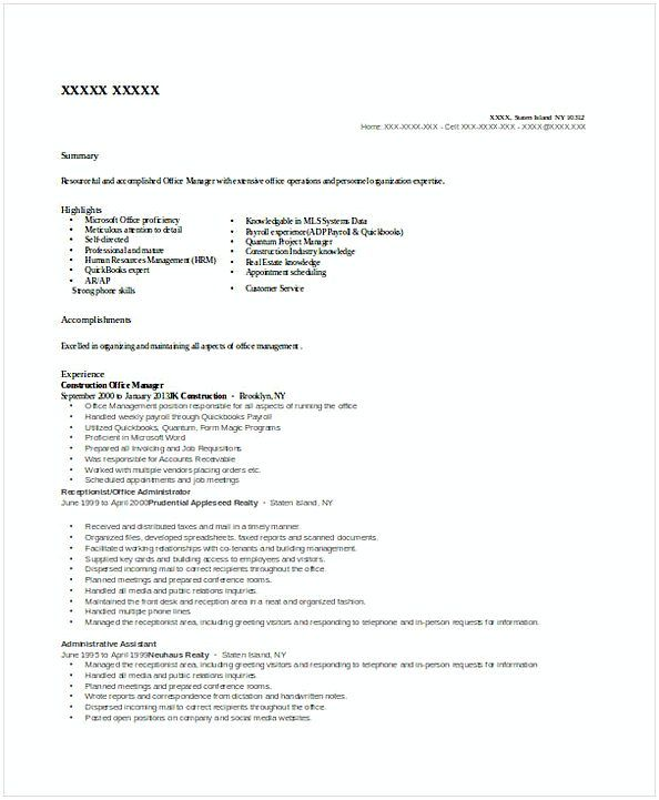 Best 25+ Office manager resume ideas on Pinterest Office manager - resumes for construction workers