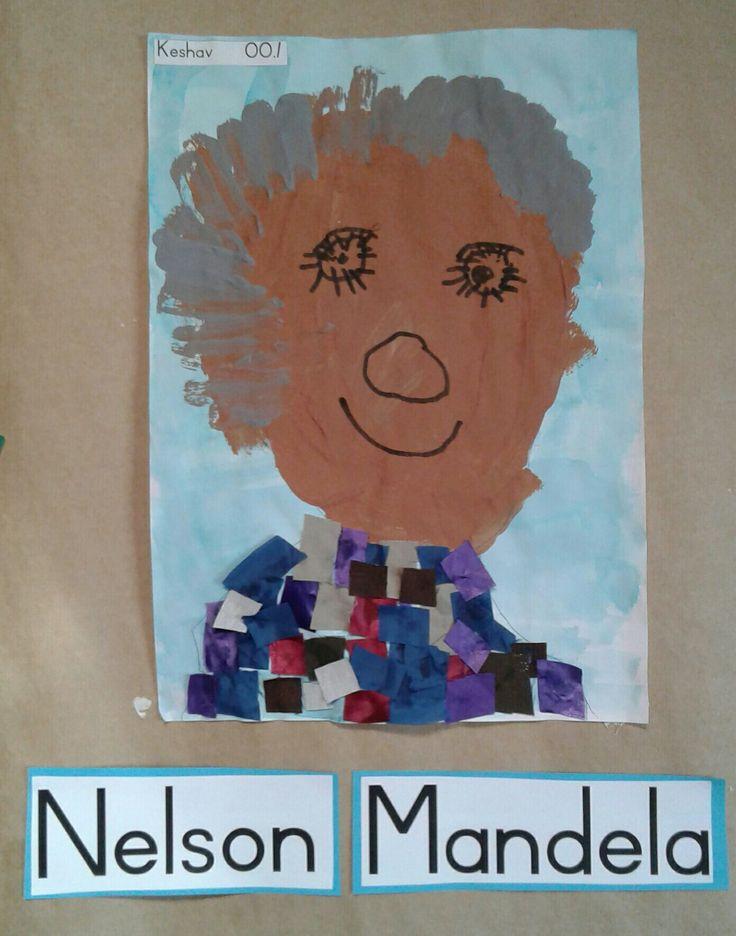 Nelson Mandela by Melissa Vergotini