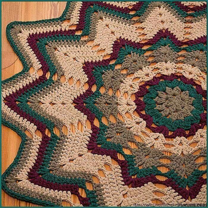 Oltre 1000 idee su tappeto all 39 uncinetto su pinterest - Tappeto mandala ...