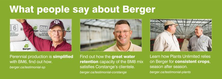 Find out what people say about Berger at berger.ca/testimonial