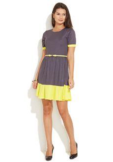 Aurika Light Grey Techno-Chic Dress