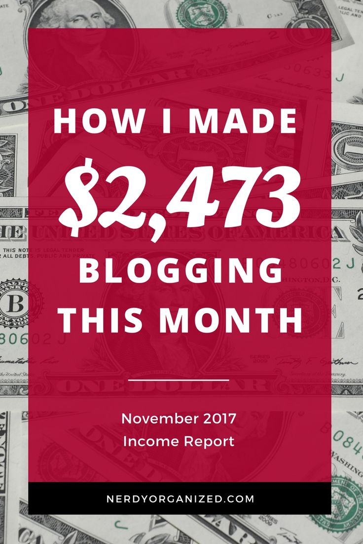 I made over $2,400 blogging part-time in November! Read how I did it and what I invest in to keep my biz running on autopilot. :) #blogging #incomereport #makemoneyblogging #bloggingtips #blogger via @nerdyorganized