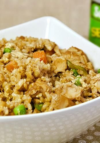 This Skinny Chicken Fried Rice is to die for!