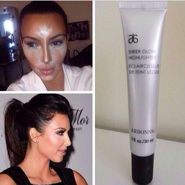 Kim Kardashian using #Arbonne sheer glow. #Beauty http://LoriMaki.arbonne.com/                                                                                                                                                      More