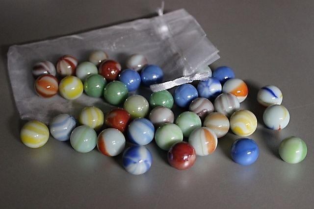 40 ks kuliček Ø 16 mm - směs barev  + pytlík