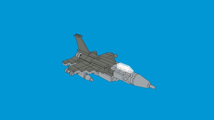 LEGO F-16 MOC created by The Bobby Brix Channel.