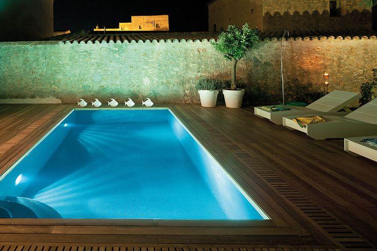 una iluminacin con focos led para piscinas pools