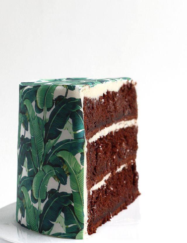 DIY wallpaper cake over at Alana Jones-Mann //petitapetitandfamily.com