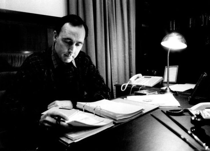 Paul Keating in the Study, 1992.