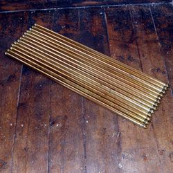 Antique Brass Stair Rods and Fixings Set of 13