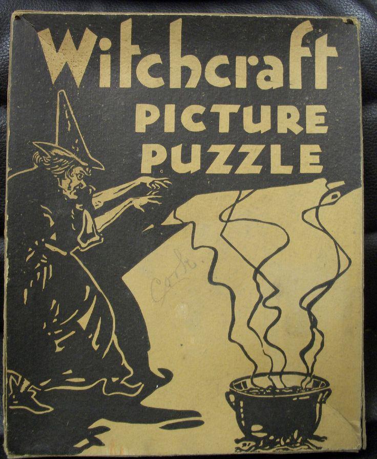 witchcraft picture puzzle 2 ebay - Halloween Witchcraft